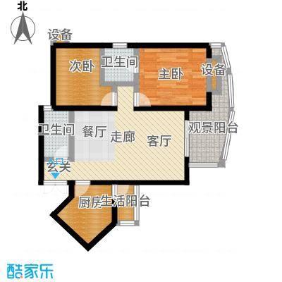 洋世达・阳光华庭73.27㎡房型户型