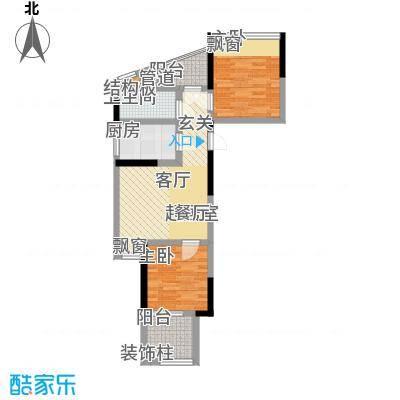 华盈尚轩71.24㎡A-1户型