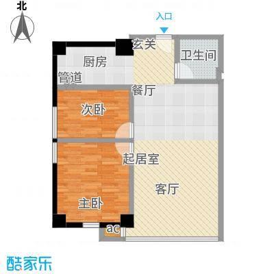 QQ生活馆户型2室1卫