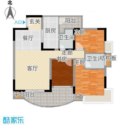 龙湖枫香庭90.88㎡房型户型