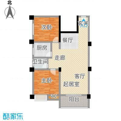 桔香鑫城户型2室1卫1厨