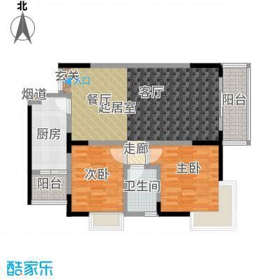 春风绿苑81.80㎡房型户型
