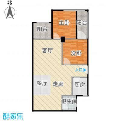 建鸿达现代公寓95.00㎡G户型