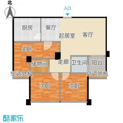 香麓丽舍户型3室1卫1厨