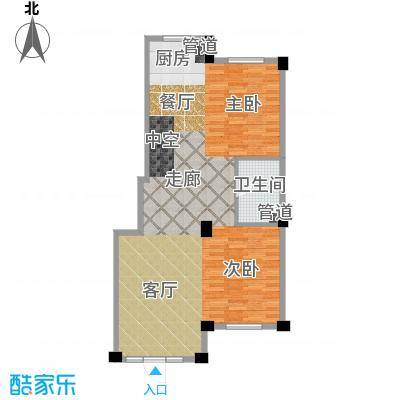 华锦铭苑76.41㎡户型