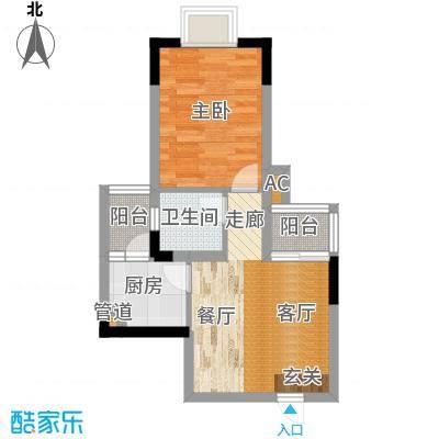 百禾星宿43.71㎡房型户型
