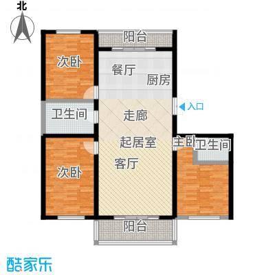 丽景花园119.81㎡三居户型