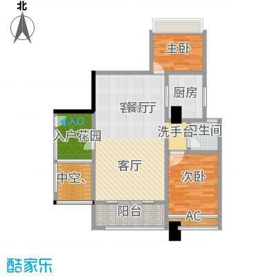 西城晶华户型2室1厅1卫1厨