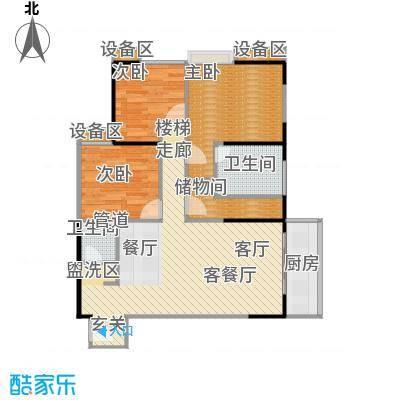 禹洲大学城户型3室1厅2卫1厨