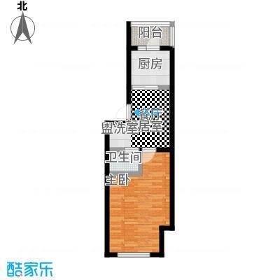 明颂华庭52.00㎡房型户型
