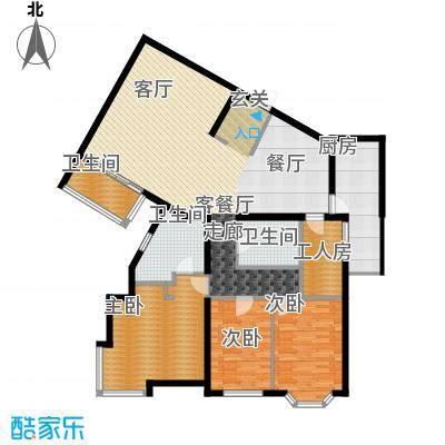 城建花园户型3室1厅3卫1厨