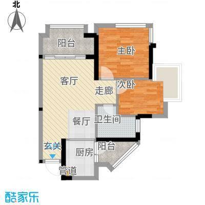 鹏基万林湖生态美墅72.00㎡六期崇文府F2户型