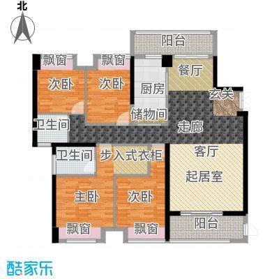 宝嘉誉峰花园171.00㎡5b户型
