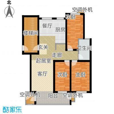 秦淮缘小区114.67㎡户型