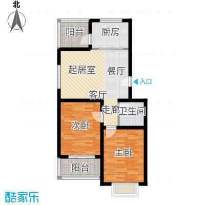 温泉公寓户型2室1卫1厨