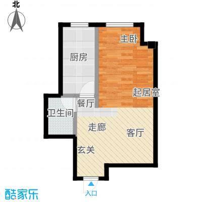 万丰王子公寓40.00㎡房型户型