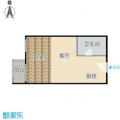 假日国际公寓56.91㎡户型