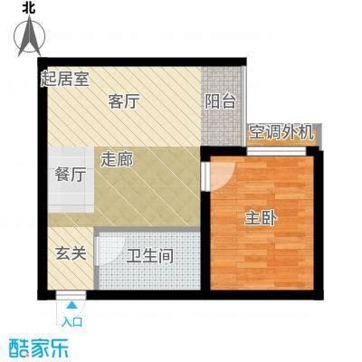 黄金嘉园49.42㎡3#C功能齐全、小大客厅户型