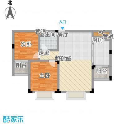 丽景苑91.82㎡C户型