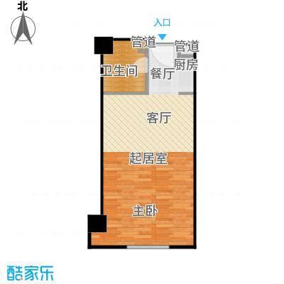 湘聚酒店公寓45.00㎡B户型