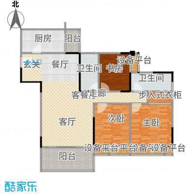 山水长天户型3室1厅2卫1厨