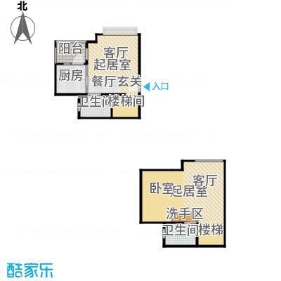 东方山水58.00㎡房型户型