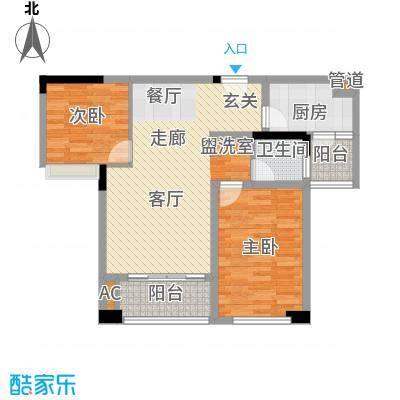 鹏基万林湖生态美墅85.00㎡六期崇文府E1户型