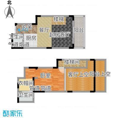 春风绿苑62.88㎡房型复式户型
