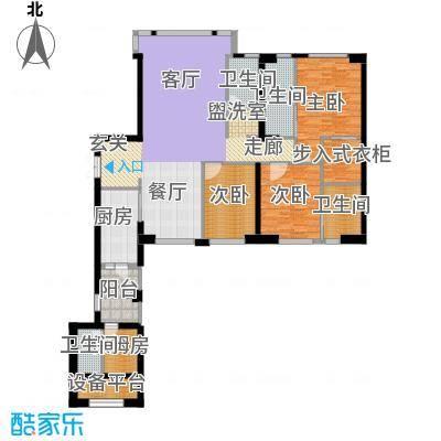 中骏天峰户型3室4卫1厨