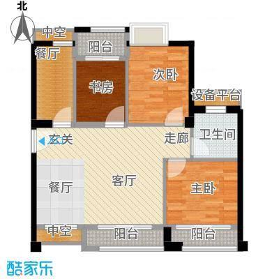 泉舜泉水湾91.00㎡D户型