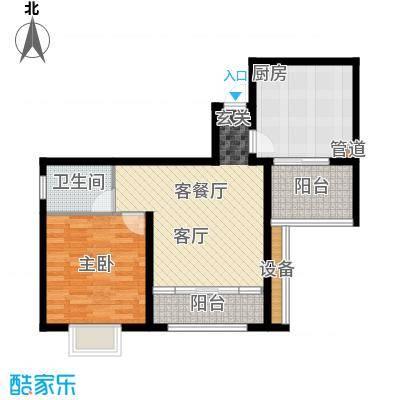 佳天・瑞宁花园户型1室1厅1卫1厨
