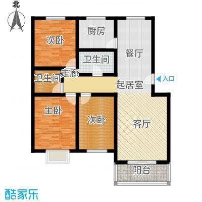 温泉公寓户型3室2卫1厨