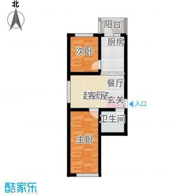 丽景花园55.00㎡二居户型