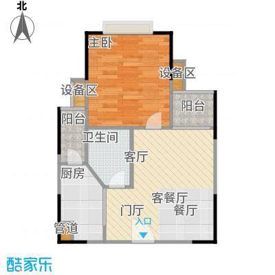 白沙晶城户型1室1厅1卫1厨