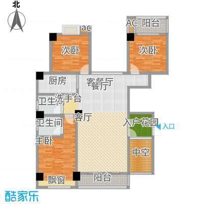 西城晶华户型3室1厅2卫1厨