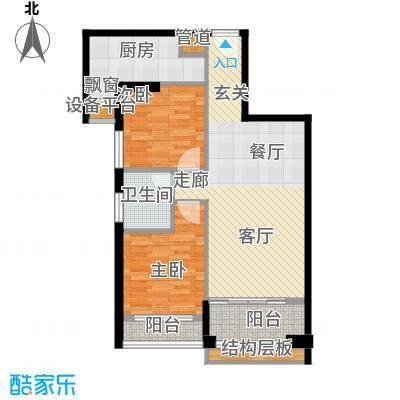 泉舜泉水湾88.00㎡17号楼B、C单元户型