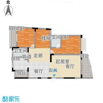 书香名邸户型2室2卫