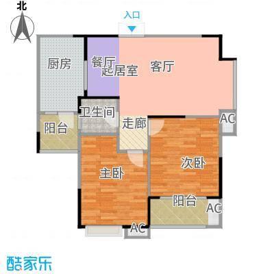 天启花园84.00㎡户型
