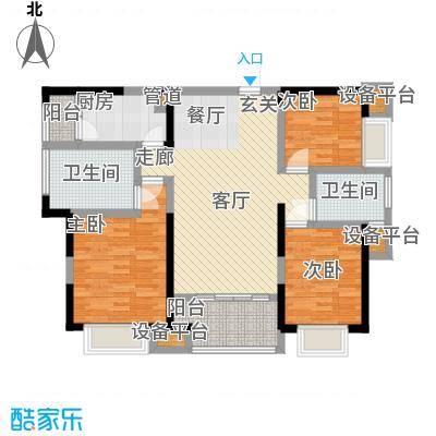 旭辉华庭112.71㎡F户型