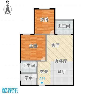 建鸿达现代公寓70.00㎡A户型