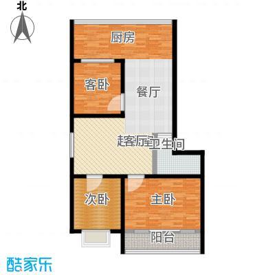 杏花苑户型3室1卫