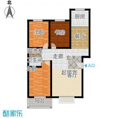 幸福家园户型3室1卫1厨