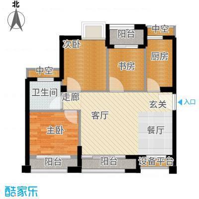 泉舜泉水湾92.00㎡17号楼A、D单元户型