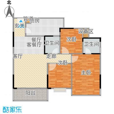 凤天竹园83.95㎡房型户型