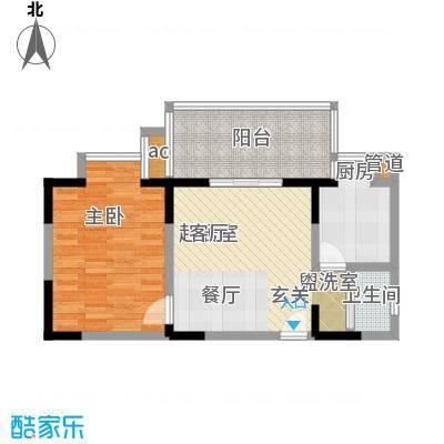 旺坤家园户型1室1卫1厨