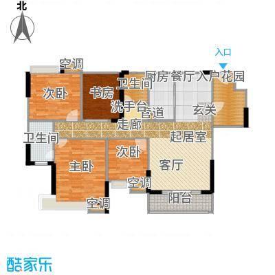 怡丰映�明轩户型4室2卫1厨