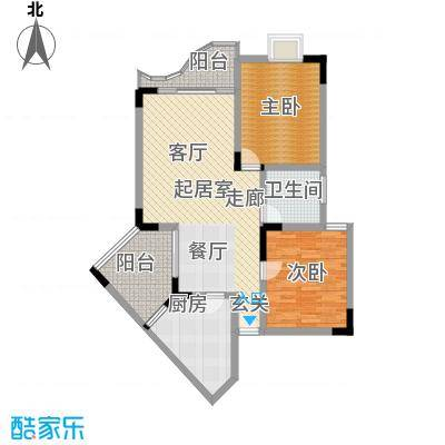 瑞丰华苑56.48㎡房型户型
