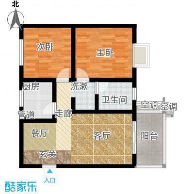 空港圣地户型2室1厅1卫1厨