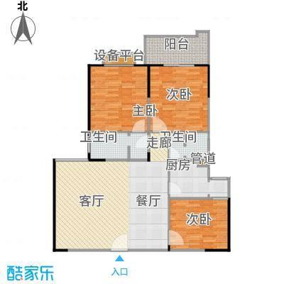 百盛・天心华庭128.56㎡B21户型