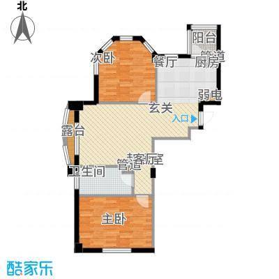 金湾新城B区二期75.00㎡户型